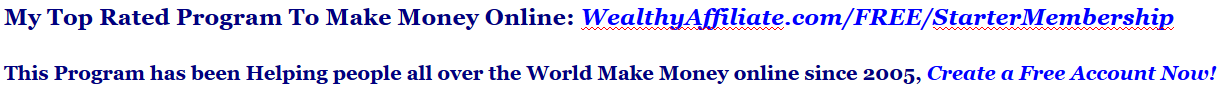 my top rated program to make money online
