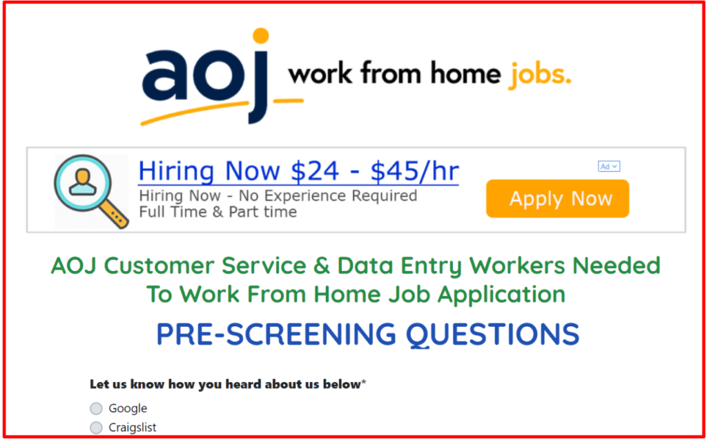 AOJ work from home review